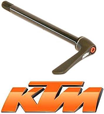 KTM - Eje Trasero para Bicicleta de 142 mm. Medidas: 12 x 1,75 cm, Color Negro: Amazon.es: Deportes y aire libre