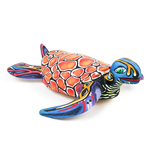 SEA Turtle Oaxacan Alebrije Wood Carving Mexican Art Sculpture by Eleazar Morales
