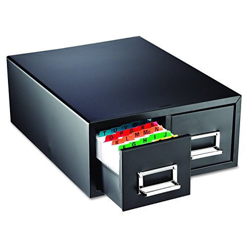 Index Card File (SteelMaster 263F4616DBLA Drawer Card Cabinet Holds 3,000 4 x 6 cards, 14 1/2 x 16 x 6 1/4)