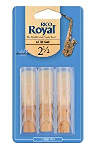 Rico Royal 2.5 Strength Reeds for Alto Sax (Pack of 3)