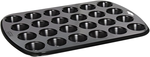 Kaiser 646237 Mini-Muffin Mould 14.96X10.63In For 24 Pcs, Black