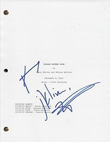 Dallas Buyers Club Signed x2 Script Screenplay Jared Leto Matthew McConaughey (Dallas Buyers Club Screenplay)