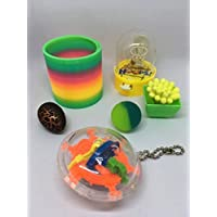 Novelty Gift Set (Retro Toys 6 in One Grow Your own Dinosaur and Plant Fun Sling Toy Mini Desktop Basketball)