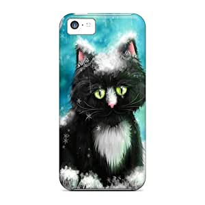 Cute Appearance Covers/UWl38381XkWf Black Kitten In Snow Cases For Iphone 5c