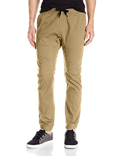 Khakis Stretch Cotton (Southpole Men's Basic Stretch Twill Jogger Pants, Deep Khaki Medium)