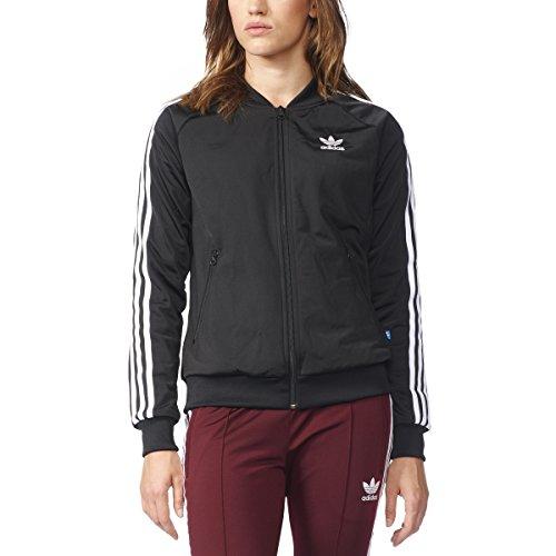 adidas Originals Women's Tops Superstar Track, Black/White, X-Large (Adidas Superstar Trefoil Womens)