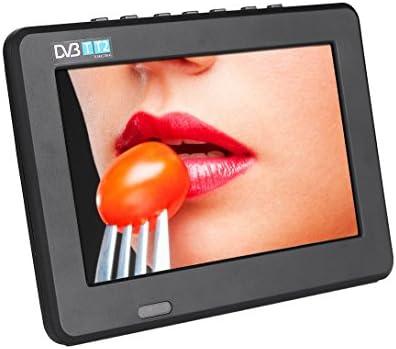 Televisor portátil TFT-LED de color negro, HD Mini TV con PVR y batería de litio recargable, mini TV para su vida de entretenimiento: Amazon.es: Electrónica