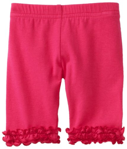 Love U Lots Baby Girls' Ruffle Mid Calf Capri
