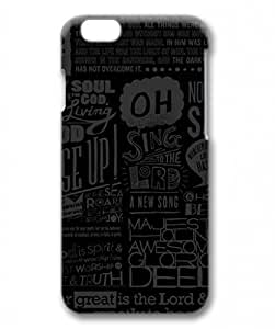 E-luckiycase PC Hard Shell Scripture for Iphone 6 Plus 3D Case