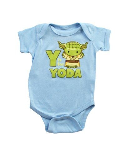 Cotton Zanies - Star Wars Y is For Yoda Infant Onesie | 0-6