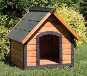Caseta para perro de madera 72 x 76 cm para mascotas Accesorios exterior jardín: Amazon.es: Jardín