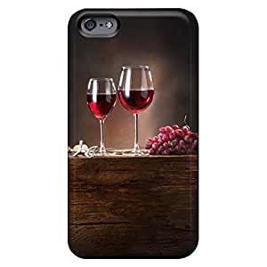 Fashion cell phone carrying cases Hot Style Classic shell iphone 5 5s case 6p - red wine grapes