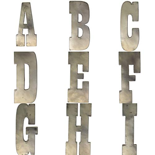 (6 Inch Farmhouse Metal Letters and Numbers in Raw Steel)