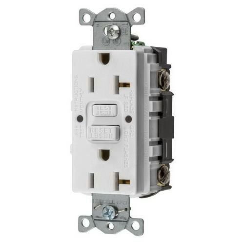 Hubbell Wiring GFRST20W AUTOGUARD Commercial Standard GFCI Receptacle, White, NEMA 5-20R, 125 Volts, 20 AMPS (1 PER CASE)