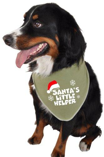 Little Doggie Costumes (Ruff Ruff and Meow Doggie Bandana, Santas Little Helper, Green, Medium)