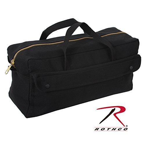 Rothco Canvas Jumbo Tool Bag with Brass Zipper, Black