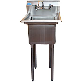 Good AmGood Utility Stainless Steel Sink   1 Compartment Laundry Room Prep U0026 Utility  Sink With 10