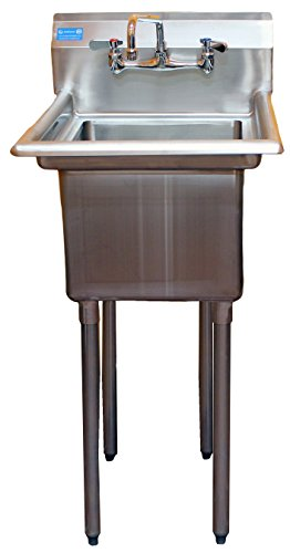 Stainless Steel Utility Sink - AmGood Commercial Stainless Steel Sink - 1 Compartment Restaurant Kitchen Prep & Utility Sink with 10