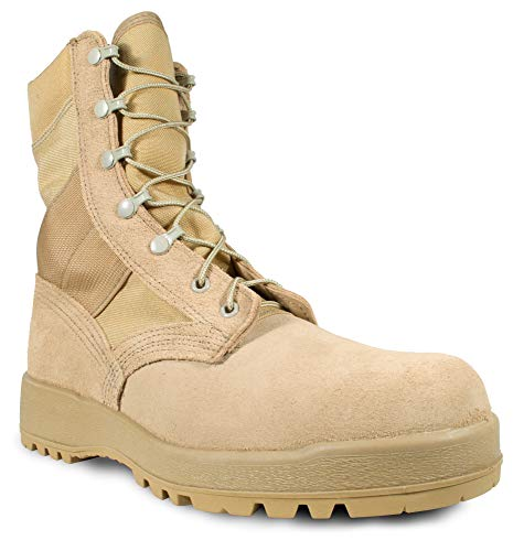McRae Mens Desert Tan Suede/Cordura Hot Weather Military Boots 9 R