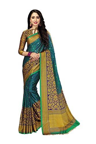 Da Facioun Indian Sarees for Women Wedding Designer Party Wear Traditional Sky Blue Sari. by Da Facioun