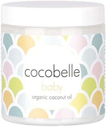 Cocobelle Baby Pure & Gentle Premium 100% Organic Virgin Coconut Oil for Babies – Perfect for Dry Skin, Eczema, Scalp/Cradle Cap, Bottom Balm, Nappy Rash Balm, Sores, Flaky Skin & Baby Massage Oil
