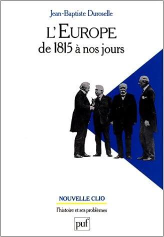 En ligne téléchargement L'Europe de 1815 à nos jours pdf