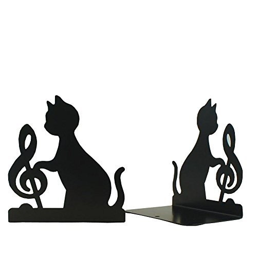 DYQWT Book Nonskid Bookends Art Bookend,1Pairs,(Black 2 style)