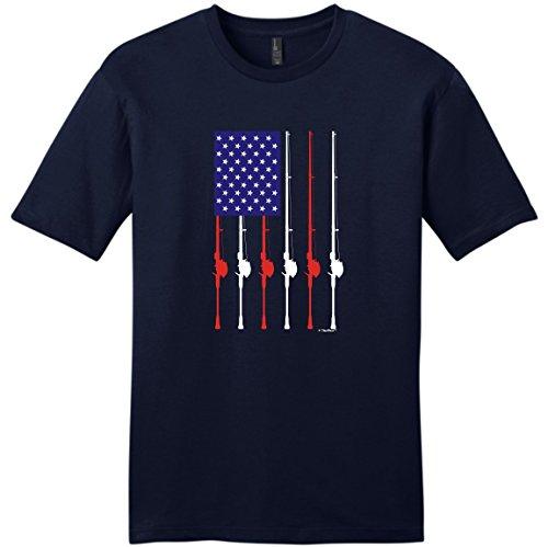 Patriotic Mud Flap Girl - Funny Fishing Shirts for Women Patriotic Fishing Pole American Flag Young Mens T-Shirt Small NwNvy