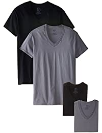 Fruit of the Loom Men's 4 Pack V-Neck T-Shirt