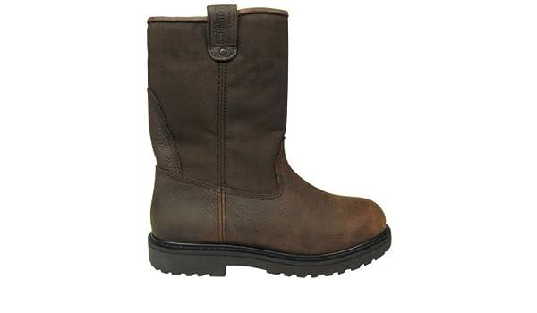 6fe3e61e714 Amazon.com : C.E. Schmidt® Men's 10 in. Steel Toe Wellington Pull-On ...