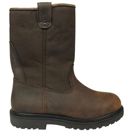 2d751c0d4b9 Amazon.com : C.E. Schmidt® Men's 10 in. Steel Toe Wellington Pull-On ...