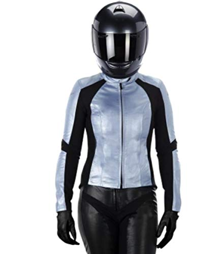 Alpinestars Vika Women's Street Motorcycle Jackets - Blue / - Motorcycle Jacket Metallic Leather