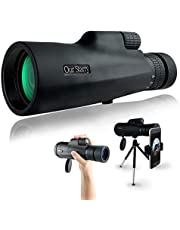 OurStarry 10-30x50 Zoom Monocular Telescope High Power with Stable Smartphone Adapter & Tripod for Adults Handheld, Concert and Field, Waterproof and Anti-Fogging