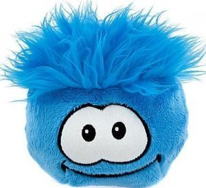 Disney Club Penguin 6 Inch Deluxe Plush Puffle Blue Includes Coin with Code!