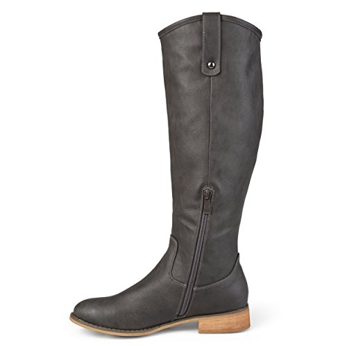 Journee Collection Womens Regular, Wide and Extra Wide Calf Round Toe Mid-calf Boots Grey