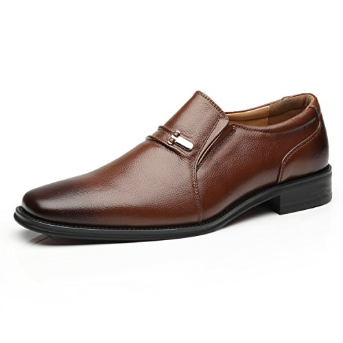 La Milano Men's Slip On Loafers Business Casual Comfortable Classic Leather Dress Shoes for Men - Dress Deerskin