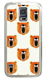 Brian114 Samsung Galaxy S5 Case, S5 Case - Fashion Crystal Clear Hard Case for Samsung Galaxy S5 Roar Bear Waterproof Back Hard Case for Samsung Galaxy S5 I9600