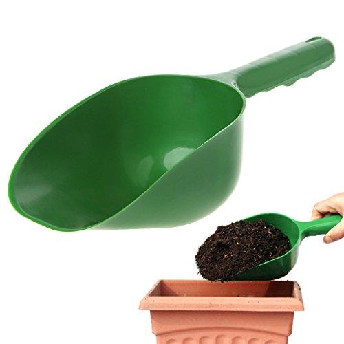 BKID Durable Plastic Soil Scoop Hand Shovel, Garden Cultivation Digging Tool Garden Trowel