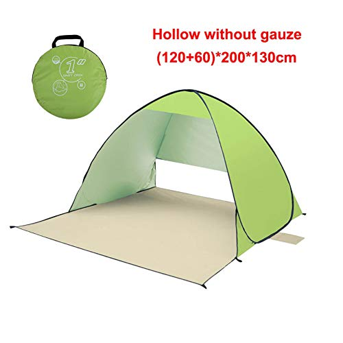(cola-site Outdoor Automatic Instant Set Up Portable Beach Tent Anti Uv Shelter Camping Fishing Picnic,Green 2 L)