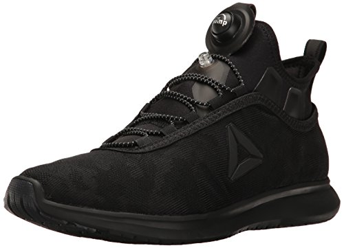 Reebok Men's Pump Plus Camo Running Shoe, Black/Black/Black, 9 M US