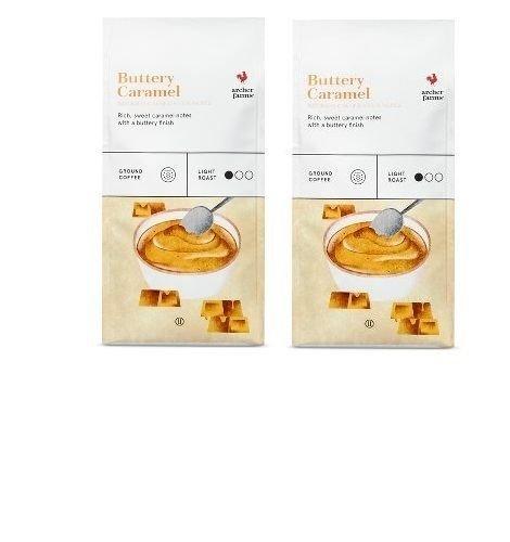 2 PKS ARCHER FARMS Buttery Caramel Light Roast Ground Coffee-12 OZ Each PK