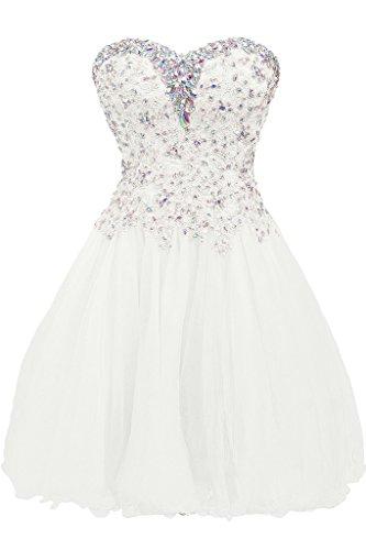 Missdressy - Robe - Sans bretelle - Femme -  blanc - 50
