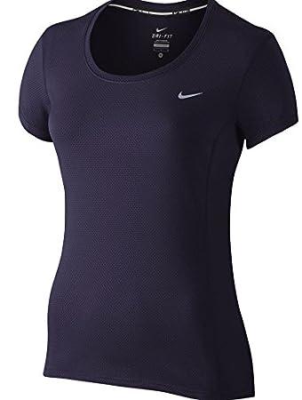 Nike Dri-Fit Contour Ss - Short-sleeve Top for women, Colour Purple