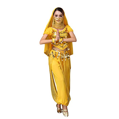 Maylong Womens Harem Pants Belly Dancing Outfit Halloween