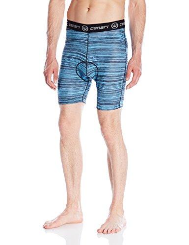 Canari Men's Crazy Echelon Liner Shorts, Blue Heather, X-Lar