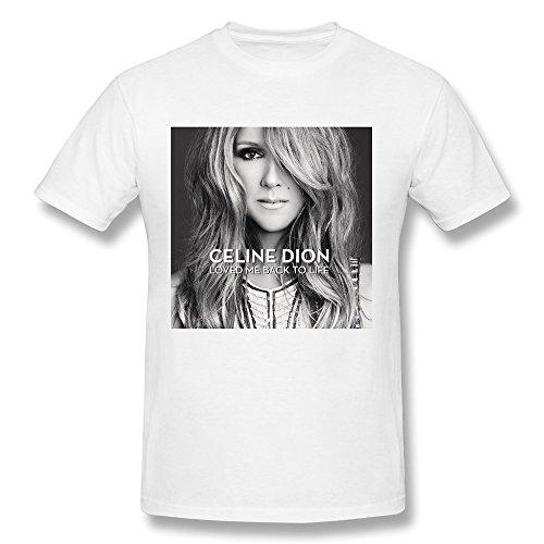 YOGUYA Men's Celine Dion T-shirt White - Mens T Shirt Celine