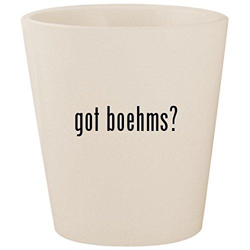 Birds Boehm Game (got boehms? - White Ceramic 1.5oz Shot Glass)
