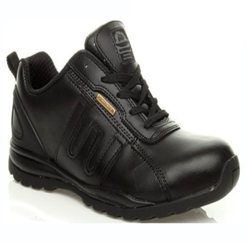 MENS BLACK GROUNDWORK GR86 LEATHER WORK SAFETY STEEL TOE CAP FASHION ANKLE BOOTS SHOES TRAINERS
