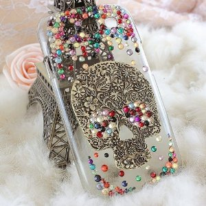 Diy 3d Bling Cell Phone Case Deco Kit Rhinestone Skull Cabochons