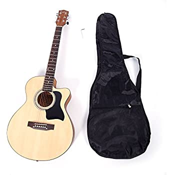 glarry 6 string folk acoustic guitar for beginners music lovers students gift 39. Black Bedroom Furniture Sets. Home Design Ideas